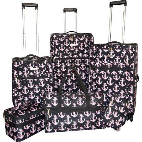 """Karriage-Mate Anchor 6-piece Expandable Spinner Luggage Set - 28"""" 24"""" 20"""""""