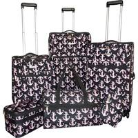 Karriage-Mate Anchor 6-piece Expandable Spinner Luggage Set