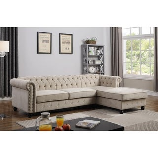 Best Master Furniture 2 Pieces Upholstered Sectional