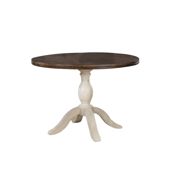 Shop Maureen 42 Round Pedestal Table Antique White Free