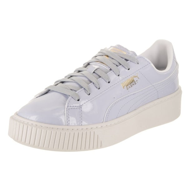 new concept 0adbf 90255 Shop Puma Women's Basket Platform Patent Casual Shoe - Free ...