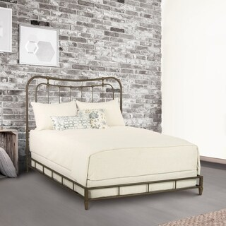 Karina Metal Platform Bed in Copper Bisque