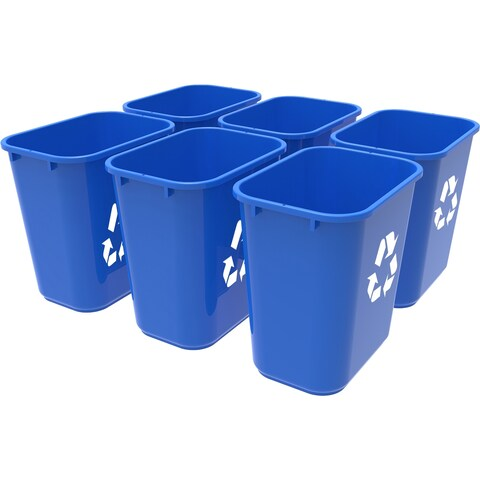 Storex Recycling Basket/ Medium size / Blue (6 units/pack)