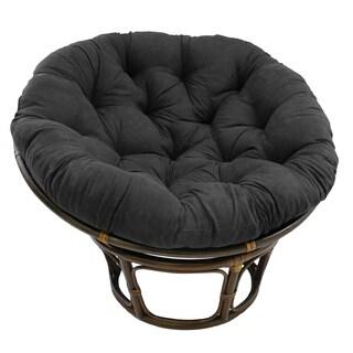 Blazing Needles 52-inch Microsuede Papasan Cushion (Option: Black)