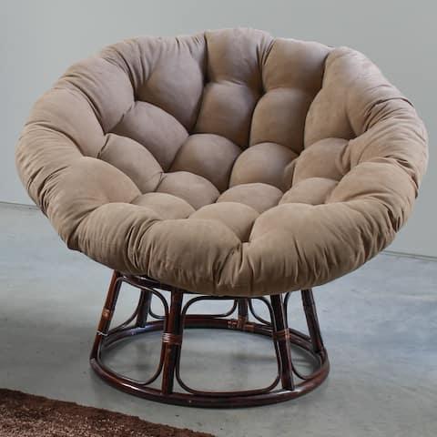 Blazing Needles 52-inch Microsuede Papasan Cushion