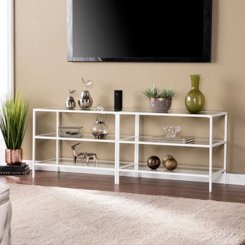 "Harper Blvd Brinkley Metal/Glass 60"" TV Stand - White"