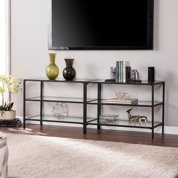 Shop Harper Blvd Brinkley Metal Glass 60 Tv Stand Matte Black