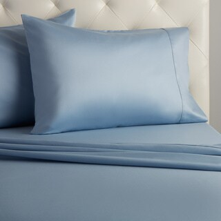 Grand Luxe Egyptian Cotton Sateen 500 Thread Count Deep Pocket Sheet Set in Cal King Sage (As Is Item)