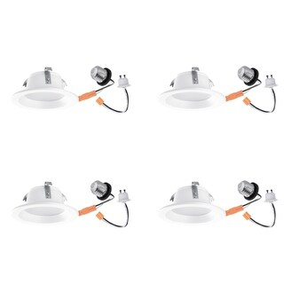 """Link to 4"""" Energy Star White Integrated LED Retrofit Recessed Lighting Kit Similar Items in Recessed Lights"""