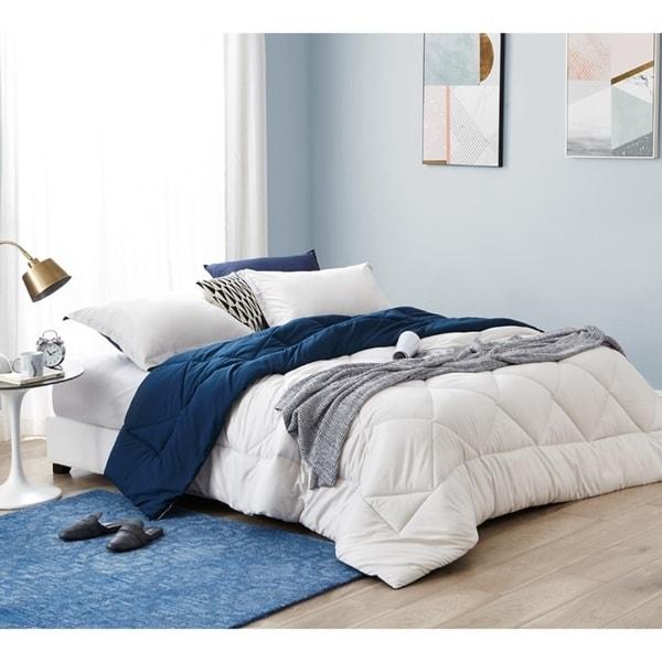 BYB Jet Stream/Nightfall Navy Reversible Comforter - Oversized Bedding