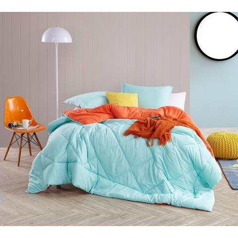 BYB Yucca/Orange Reversible Comforter - Oversized Bedding