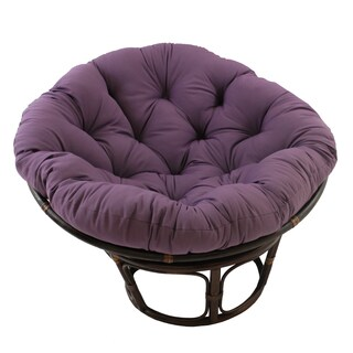 Blazing Needles 52-inch Solid Twill Papasan Cushion (Option: Grape)