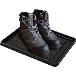 Storex Boot Tray for School Locker & Office Cubicle/ Black (18 units/pack)