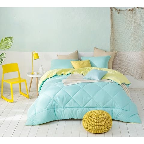 BYB Yucca/Limelight Yellow Reversible Comforter - Oversized Bedding