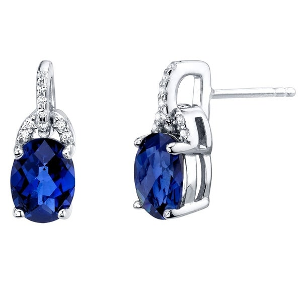 d753b6506 Shop Created Blue Sapphire Sterling Silver Pirouette Drop Earrings 3.00  Carats Total - On Sale - Free Shipping Today - Overstock - 21585358