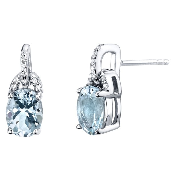 Aquamarine Sterling Silver Pirouette Drop Earrings 2 00 Carats Total On Free Shipping Today 21585457