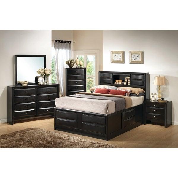 shop briana transitional black 5 piece bedroom set on sale free rh overstock com 5 piece bedroom set king 5 piece bedroom set for cheap