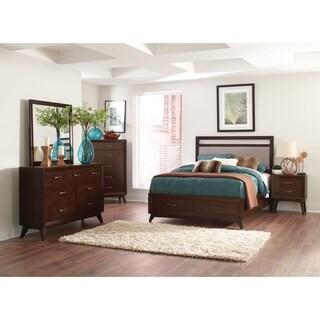 Carrington Mid-century Modern Coffee 5-piece Bedroom Set