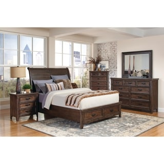 Ives Traditional Antique Mink 4 Piece Bedroom Set