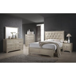 Beaumont Transitional Champagne 4-piece Bedroom Set