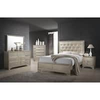 Silver Orchid Arcaro Transitional Champagne 5-piece Bedroom Set