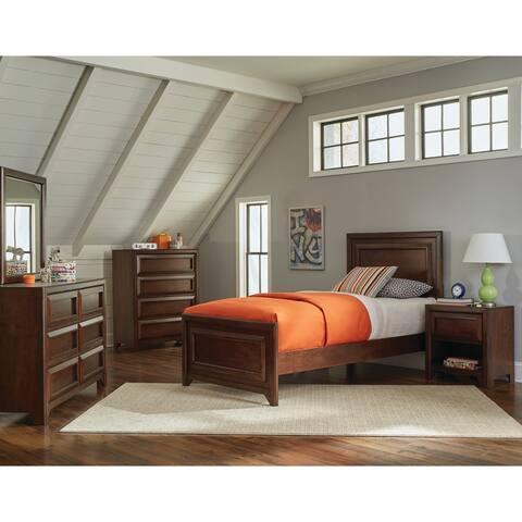 Greenough Transitional Maple Oak 4-piece Bedroom Set