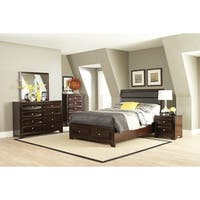 Jaxson Transitional Cappuccino 5-piece Bedroom Set
