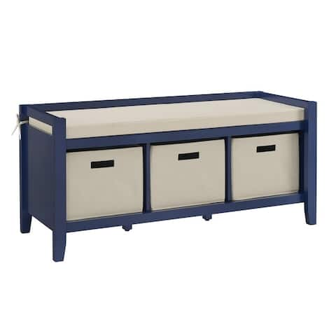 Jax Navy Entryway Bench