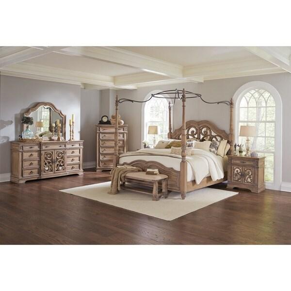 Shop Ilana Traditional Antique Linen 4-piece Bedroom Set ...