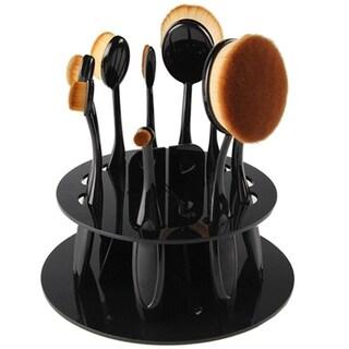 M.B.S Oval Brush Holder Black