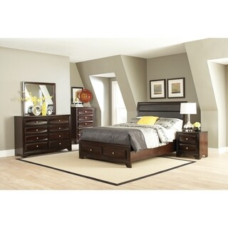 Jaxson Transitional Cappuccino 4-piece Bedroom Set