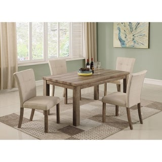 Elegant Best Master Furniture Light Wood 5 Pieces Dining Set