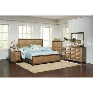 Wheatland Transitional Sage and Antique Gold 5-piece Bedroom Set