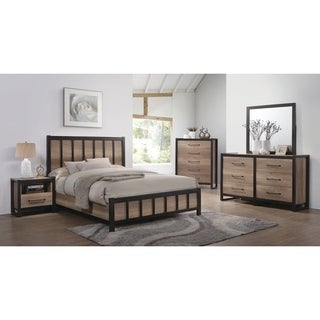 Edgewater Industrial Weathered Oak 4-piece Bedroom Set