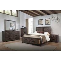 Carbon Loft Conway Rustic Dark Brown 4-piece Bedroom Set