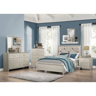 Lana Traditional Silver 5-piece Bedroom Set