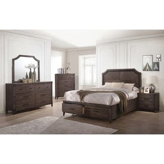 Richmond Rustic Dark Grey Oak 5 Piece Bedroom Set