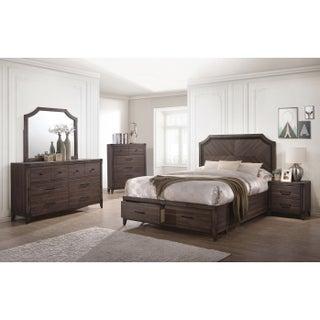 Richmond Rustic Dark Grey Oak 5-piece Bedroom Set