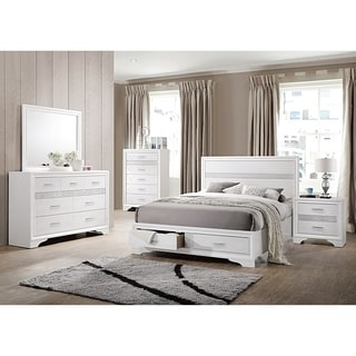 Image great mirrored bedroom furniture Decorating Miranda Contemporary White 4piece Bedroom Set Ebay Buy Bedroom Sets Online At Overstockcom Our Best Bedroom