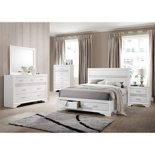 Bedroom Sets.Shop Miranda Contemporary White 5 Piece Bedroom Set On Sale