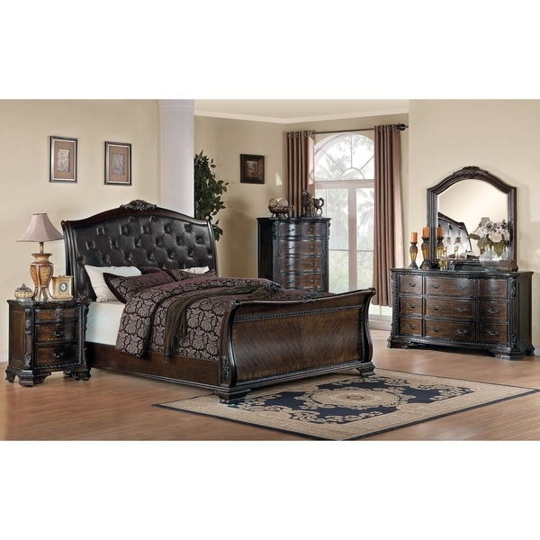 764917575c49 Shop Maddison Brown Cherry 5-piece Bedroom Set - Free Shipping Today -  Overstock - 21585834