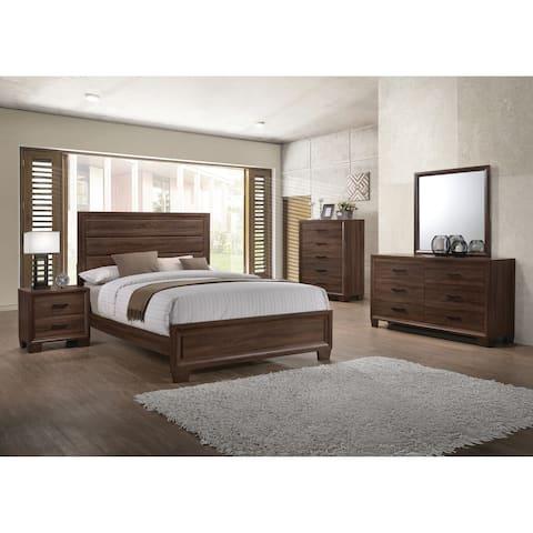 Brandon Transitional Medium Brown 5 Piece Bedroom Set