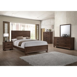Brandon Transitional Medium Brown 5 Piece Bedroom Set