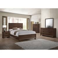 Pine Canopy Caddo Transitional Medium Brown 4-piece Bedroom Set