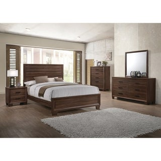 Brandon Transitional Medium Brown 4-piece Bedroom Set (2 options available)