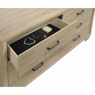 Vernon Transitional Whitewashed Oak 4-piece Bedroom Set