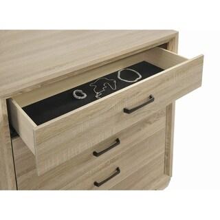 Vernon Transitional Whitewashed Oak 5-piece Bedroom Set