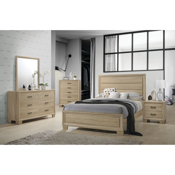 Shop Vernon Transitional Whitewashed Oak 5-piece Bedroom