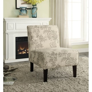 Cozy Gray Toile Accent Chair