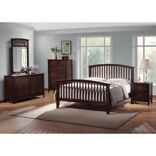 Tia Cappuccino 4-piece Bedroom Set